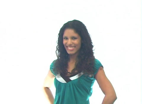 Beautiful Latina-6f Stock Video Footage