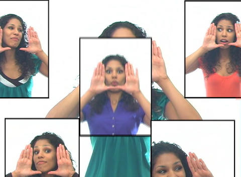 Beautiful Latina 7-composite Stock Video Footage