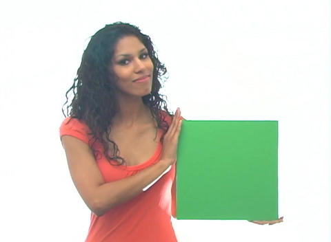 Beautiful Latina with Green Card-1a Footage