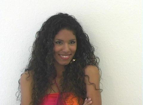 Beautiful Latina Flirting (2) Stock Video Footage