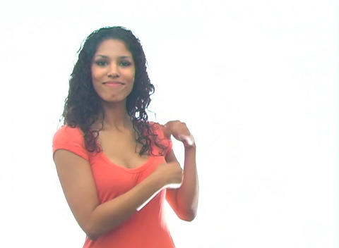 Beautiful Latina Hostess 1-b Stock Video Footage
