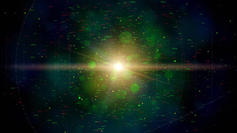 Digital universe loop Stock Video Footage