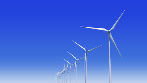 Wind Turbine Hb HD Animation