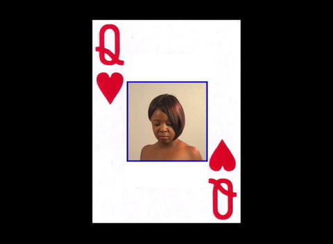 Beautiful Woman inside a Queen of Hearts playing card... Stock Video Footage