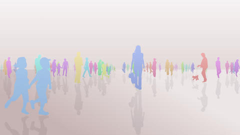 Silhouette People S A1 Fa Stock Video Footage