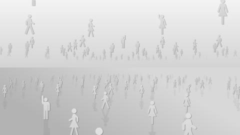 Silhouette People S A2 Ma Stock Video Footage