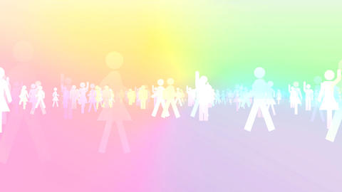 Silhouette People S B3 Ma Stock Video Footage