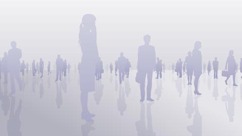 Silhouette People S C1 Ba Stock Video Footage