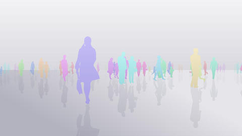 Silhouette People S C1 Fa Stock Video Footage