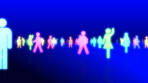 Silhouette People S C1 Ma Stock Video Footage