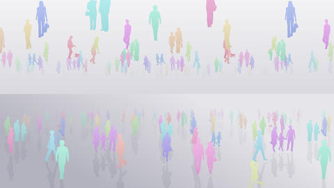 Silhouette People S C2 Fa Stock Video Footage