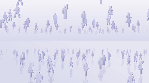 Silhouette People S C2 Ma HD Stock Video Footage