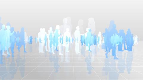 Silhouette People S C3 Ba HD Stock Video Footage