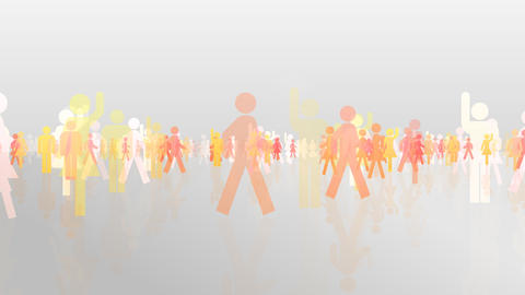 Silhouette People S C3 Ma HD Stock Video Footage