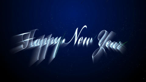 happy new year Stock Video Footage