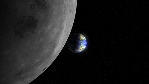 Earth to the Moon (24fps) Stock Video Footage