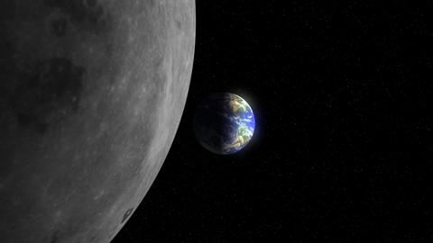 Earth to the Moon (30fps) Stock Video Footage