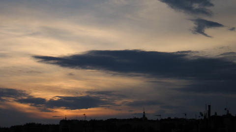 Timelapse sunset silhouette Stock Video Footage