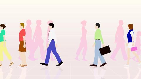 Walking People 3 AMb Stock Video Footage