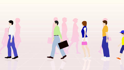 Walking People 3 AMb Animation