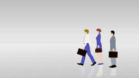 Walking People 3 BBa Animation