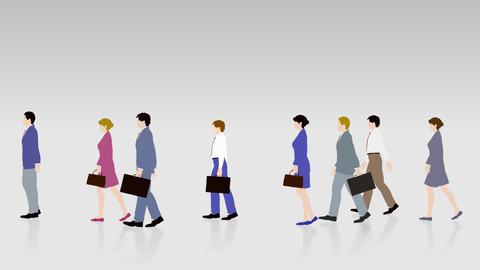 Walking People 3 BBc Animation