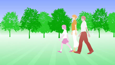 Walking People 3 BCb Stock Video Footage