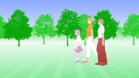 Walking People 3 BCb Animation
