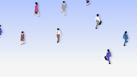 Walking People 3 CBc Animation