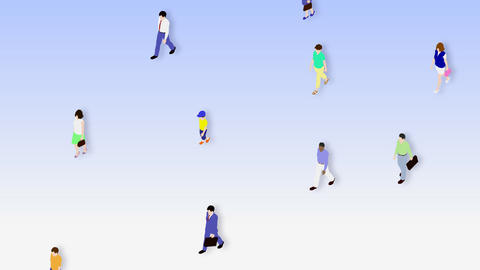 Walking People 3 CMa Animation