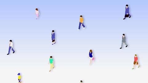 Walking People 3 CMa Stock Video Footage