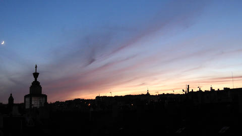 Timelapse Prague dusk Footage