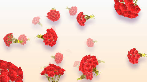 Flying Bouquet HD Stock Video Footage
