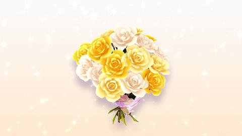 Rose Bouquet A3 Stock Video Footage