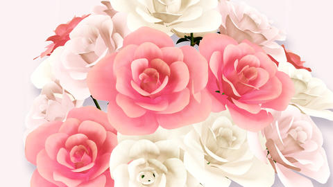 Rose Bouquet C2 Stock Video Footage