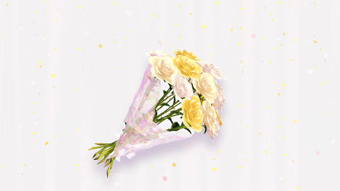 Rose Bouquet D3, Stock Animation
