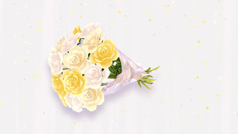 Rose Bouquet D3 Stock Video Footage