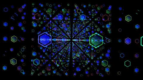 Hexagon HD 05 advances Stock Video Footage