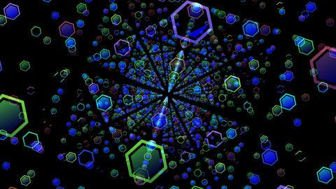 Hexagon mHD 05a mov (Alpha channel) 動画素材, ムービー映像素材