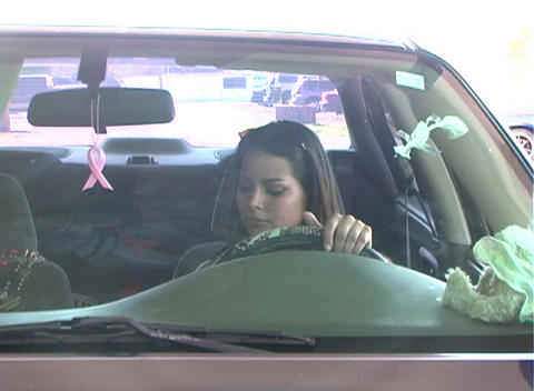 Beautiful Brunette Enters Her Car-3a Stock Video Footage