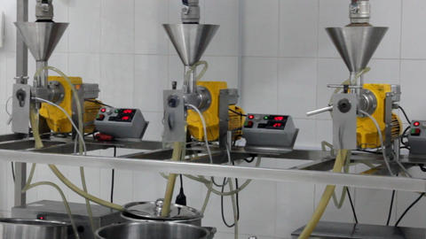 extraction of oils in a factory Stock Video Footage