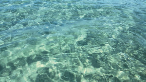 transparent sea water in shallow Stock Video Footage