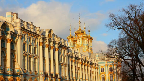 Catherine Palace - Pushkin, Tsarskoe Selo, St. Pet Stock Video Footage