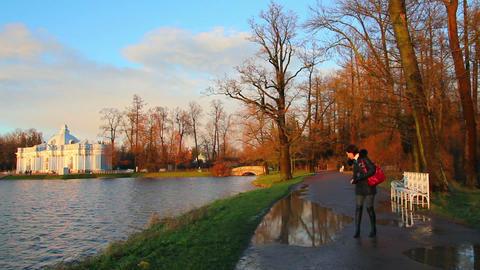 Tourists in Pushkin Park, Tsarskoye Selo, St. Pete Footage