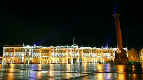 The Hermitage - Winter Palace in St. Petersburg at Footage