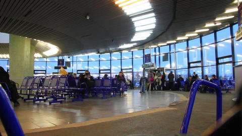 departure lounge at airport - timelapse Stock Video Footage