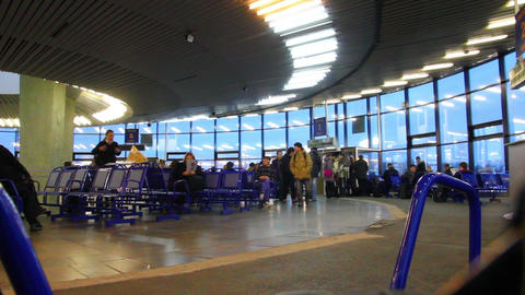 departure lounge at airport - timelapse Footage
