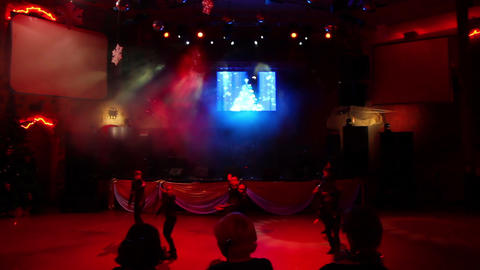 Dancers perform at party Stock Video Footage