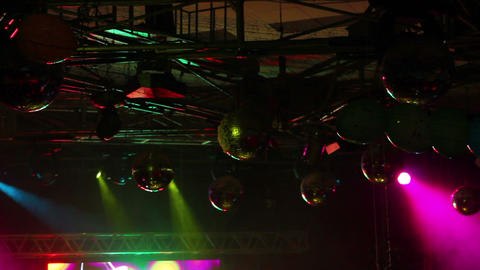 lighting equipment at concert - timelapse Stock Video Footage