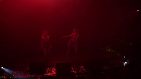 Dancers Perform At Party - Timelapse stock footage
